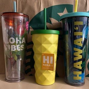 Starbucks Hawaii Exclusive Tumbler Set of 3